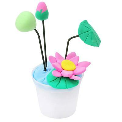 2018 Kids Magic DIY Potted Plants Plasticine Mud Modeling Clay Craft Gift C