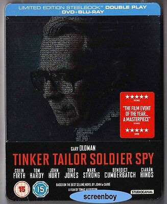 """TINKER TAILOR SOLDIER SPY"" - Gary Oldman, Colin Firth - BLU RAY STEELBOOK + DVD"