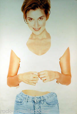Celine Dion 1996 Falling Into You Blue Jean Original Store Poster