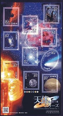 Japan 2018 82y Astronomical World Series 1 Sheet of 10 Fine Used