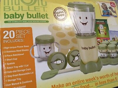 Magic Bullet Baby Bullet 20pc Set  The Complete Baby Food Making System BPA Free