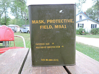 Gas Mask in Original Can