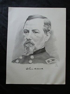 Civil War Union General Irvin McDowell -  - FRAME FOR A GIFT - SEE MY MAPS
