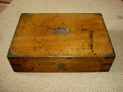 Antique Brass Cornered Duelling / Officers Pistol Box