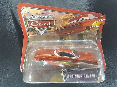 DISNEY PIXAR CARS checklane short card LIGHTNING RAMONE WOC SAVE 5%