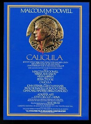 1981 Caligula movie release vintage print ad