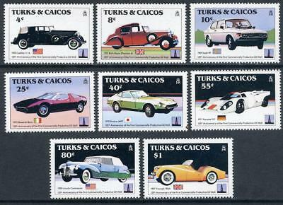 Turks & Caicos Islands: 1984 Cars (605-612) MNH