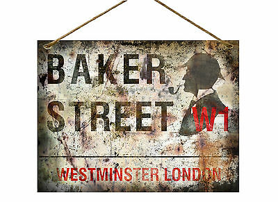 Baker Street Sherlock Holmes Vintage Metal Sign Home Decor:man Cave:shed :gift