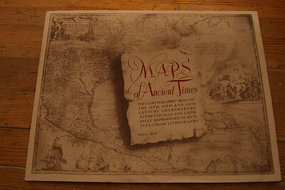 """Maps of Ancient Times"" Set of 4 11"" x 14"" Color Lithographs North America Asia"