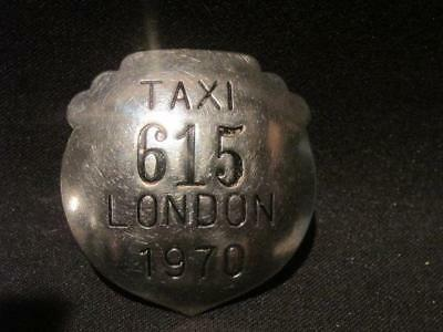 London Ontario Vintage 1970 Obsolete Taxi Driver Metal ID Badge 615