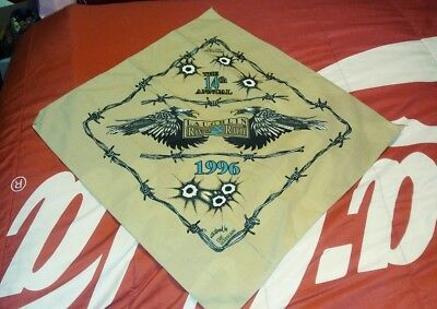 Vguc 14th Annual Laughlin NV River Run Motorcycle Bandanna Eric Herrmann Art TAN