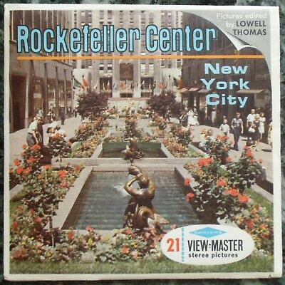 3 View-Master 3D Bildscheiben - Rockefeller Center | New York City