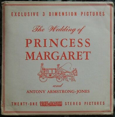 3 View-Master 3D Bildscheiben - The Wedding Of Princess Margaret