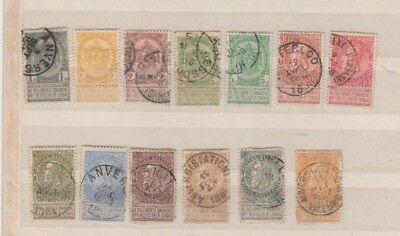 a Good Cat Value 1893 Belgium group to 1f with Tabs