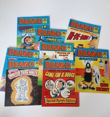 Beano Comic Library Numbers Job Lot Small Bundle 51, 52, 53, 54, 56, 57, 58, 59