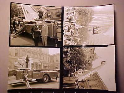 Fdny New York City Fire Department Photo Showing 4 Views Of Mack Aerialscope