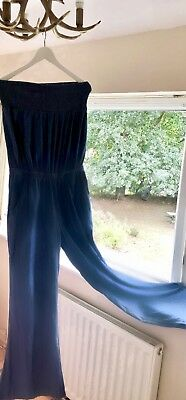 Denim Jumpsuit From Next Size 12 Wide Leg Vgc