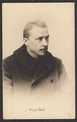REAL PHOTO POSTCARD HUGO WOLF AUSTRIAN COMPOSER c1910