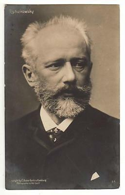 REAL PHOTO POSTCARD PETER TCHAIKOVSKY RUSSIAN COMPOSER c1910