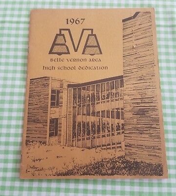 Vintage 1967 Belle Vernon Area High School Dedication Program PA Pennsylvania