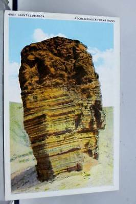 Scenic Giant Club Rock Peculiar Rock Formations Postcard Old Vintage Card View