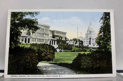 Rhode Island RI Providence Normal School State Capitol Postcard Old Vintage Card