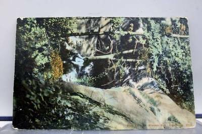 Ohio OH Nelsonville Minkers Run Rock Cave Postcard Old Vintage Card View Post PC