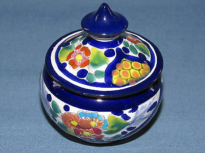Arte Manual Mexico Hand Painted Art Jar Box With Lid