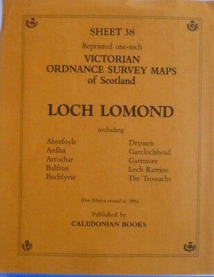 Victorian Old Ordnance Survey Map Loch Lomond Scotland 1896 New