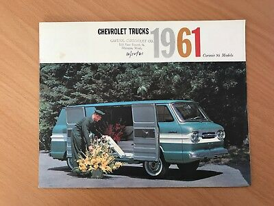 1961 Chevrolet Corvair 95 trucks brochure
