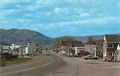 Street Scene Classic Autos Truck  / Conoco & Standard Gas Stations ~ Drummond Mt