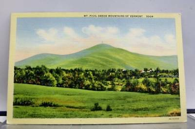 Vermont VT Green Mountains Mt Pico Postcard Old Vintage Card View Standard Post