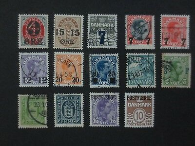 Denmark 1904 onwards Mint Used collection of better with BoB
