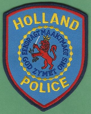 Holland Michigan Police Patch Blue