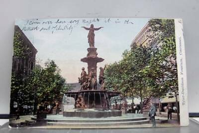 Ohio OH Cincinnati Tyler Davidson Fountain Postcard Old Vintage Card View Post