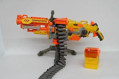 NERF N-Strike Havok Fire EBF-25 Children Toy Gun With Ammo Belt And Storage