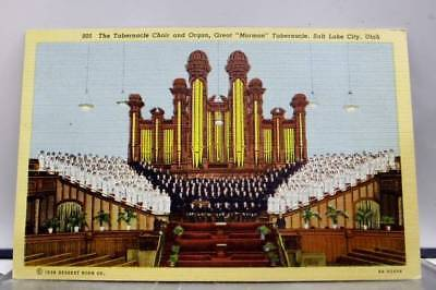 Utah UT Mormon Church Salt Lake City Postcard Old Vintage Card View Standard PC