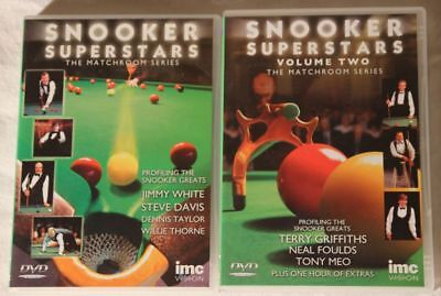 2 DVD Snooker Superstars Volume 1 & 2 Matchroom Series