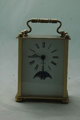 Solid Brass German Emes Carriage Clock,german Movement.