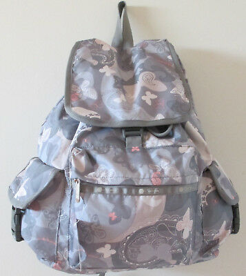 LeSportsac 7839 New York Exclusive Voyager Backpack Concrete Jungle NWT