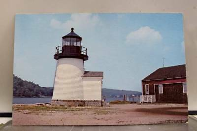 Rhode Island RI Mystic Seaport Lighthouse Postcard Old Vintage Card View Post PC