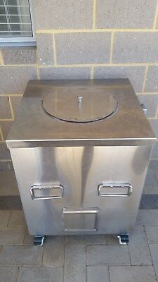 Tandoor (Indian Clay Oven) Brand NewSS Enclosure with SS Skewers