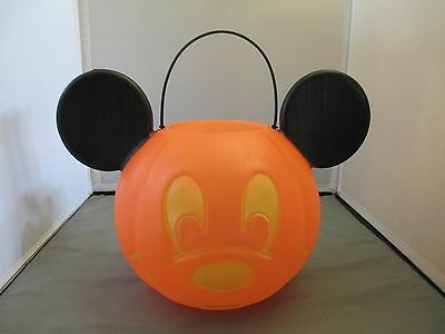Mickey Mouse Pumpkin Trick Treat Candy Pail Bucket Double sided