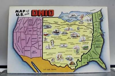 Ohio OH US Map Postcard Old Vintage Card View Standard Souvenir Postal Post PC