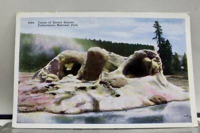 Yellowstone Park Crater Grotto Geyser Postcard Old Vintage Card View Standard PC