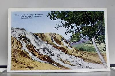 Yellowstone Park Jupiter Terrace Mammoth Hot Springs Postcard Old Vintage Card