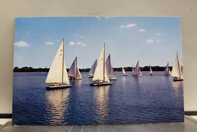 Ohio OH River Boating Postcard Old Vintage Card View Standard Souvenir Postal PC