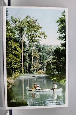 Scenic Canoeing Postcard Old Vintage Card View Standard Souvenir Postal Post PC