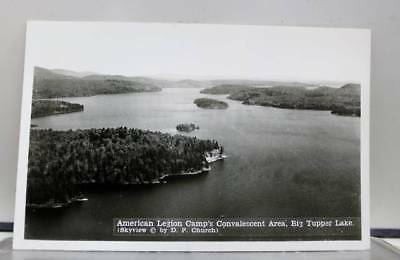 Scenic Big Tupper Lake American Legion Camp Area Postcard Old Vintage Card View
