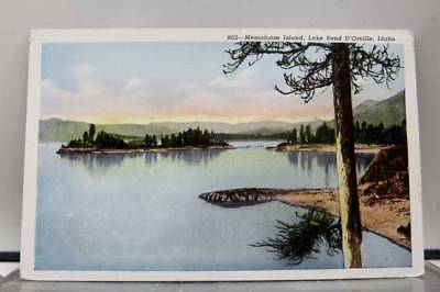 Idaho ID Memaloose Island Lake Pend D'Oreille Postcard Old Vintage Card View PC